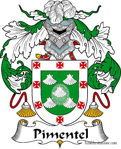 Coat of arms of family Pimentel