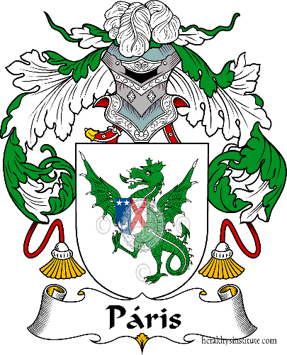 Coat of arms of family Páris or Paris ref: 40959