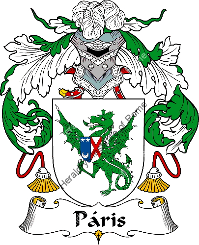 Coat of arms of family Páris or Paris