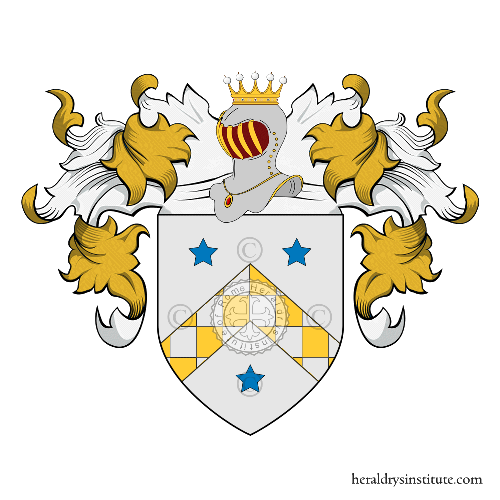 Coat of arms of family Rossastro