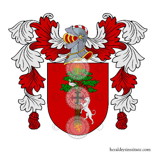 Coat of arms of family Montes de Oca