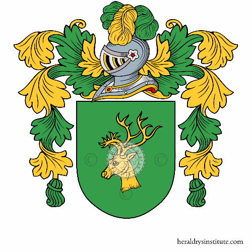 Coat of arms of family Ciervo