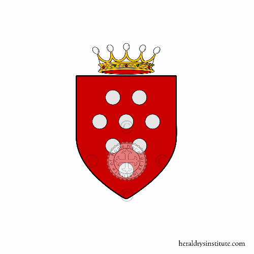 Coat of arms of family Borgognoni