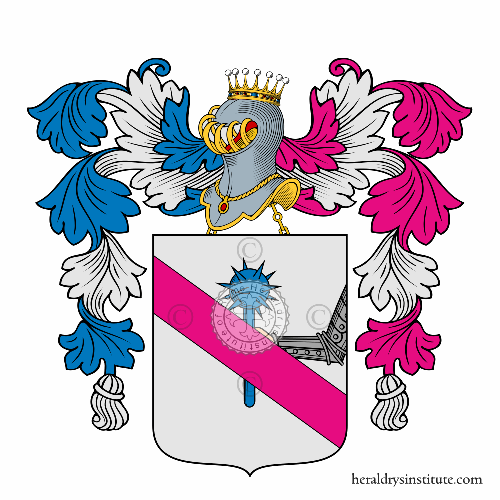 Coat of arms of family de Vincenti