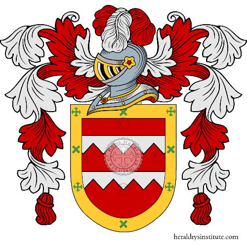Coat of arms of family Alcaìn