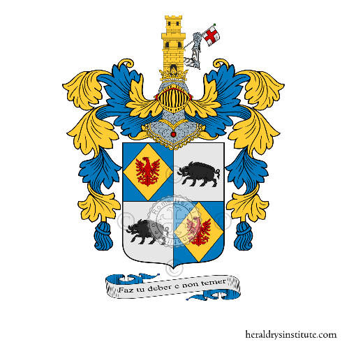 Coat of arms of family Falcò Pio