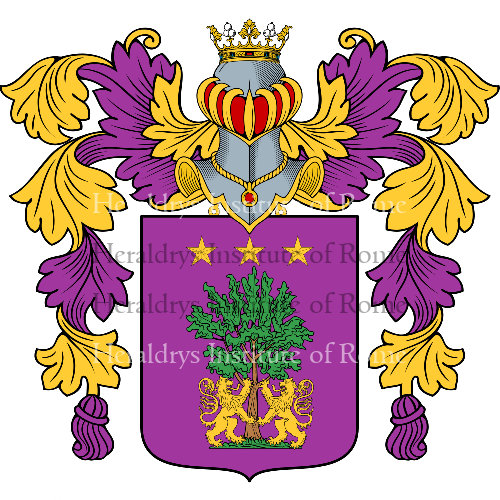 Coat of arms of family Pepe
