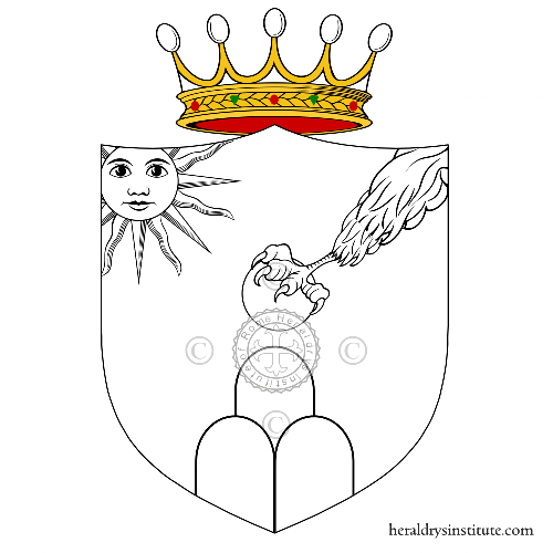 Coat of arms of family Piperni