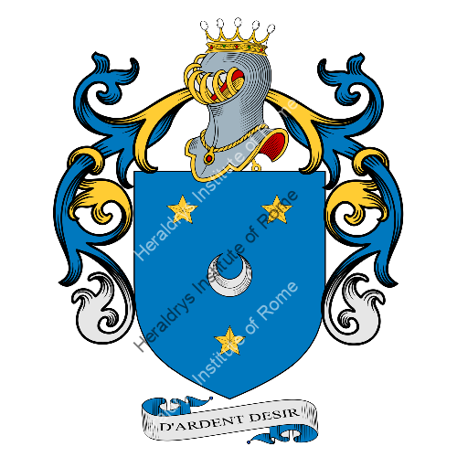 Coat of arms of family Canelli