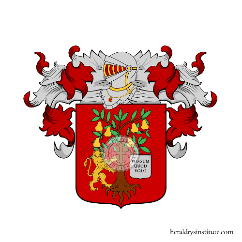Coat of Arms of family Piranio