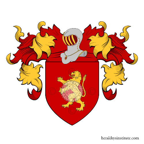 Coat of Arms of family Tendina